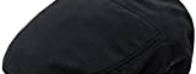 Black Lightweight Poly Woven Ivy Hat Flat Cap