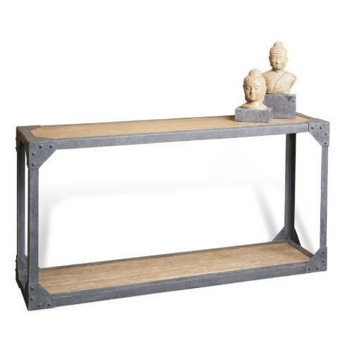 Buy low price jardin antique oak industrial loft rustic iron console table b009azglg8 - Table jardin vintage montpellier ...