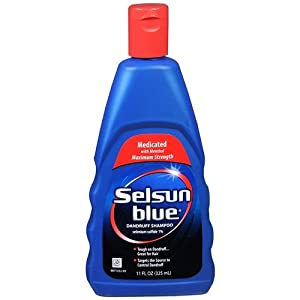 selsun blue medicated maximum strength dandruff shampoo 11 ounce hair shampoos