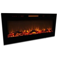 """Elite Flame 50"""" Fusion Log Built-in Smokeless Wall Mounted ..."""