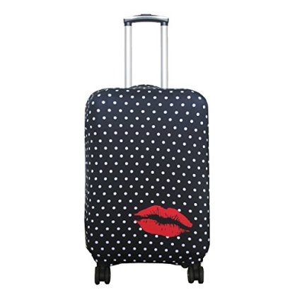 Explore-Land-Luckiplus-Spandex-Travel-Luggage-Cover-Trolley-Case-Protective-Cover-Fits-18-32-Inch-Luggage-Polkadot-XL-31-32-inch-luggage