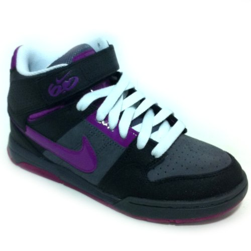 Nike 6.0 WMNS AIR MOGAN MID 2 Damen Schuhe, schwarz lila, US 8, EU 39, UK 5.5