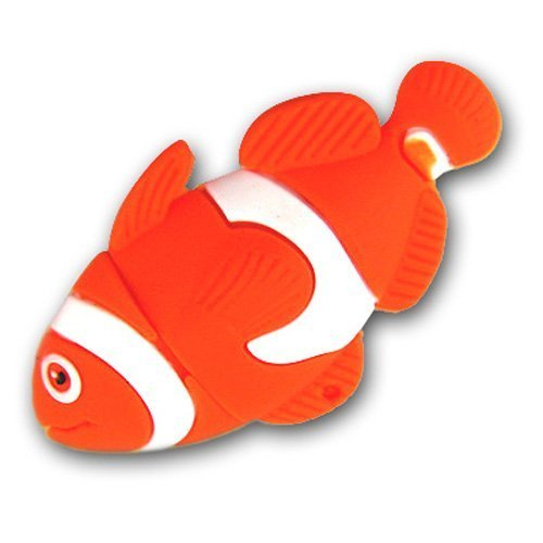 64 Gb USB Flash Drive Cartoon Cute Clownfish Shape