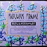 Texas Bluebonnets Design – Hand Painted – Frame – 5 inch X 7 inch – Rectangle Photo Opening