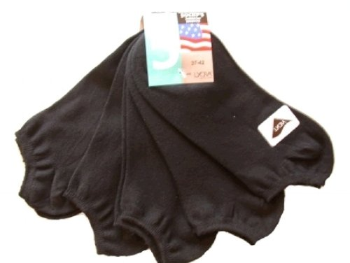 10 Paar Original American Life Style Sneaker Socken, schwarz, 43-47