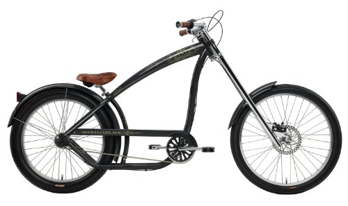 Nirve Men's Switchblade 3-Speed Chopper Bike (Charcoal, 26-24-Inch