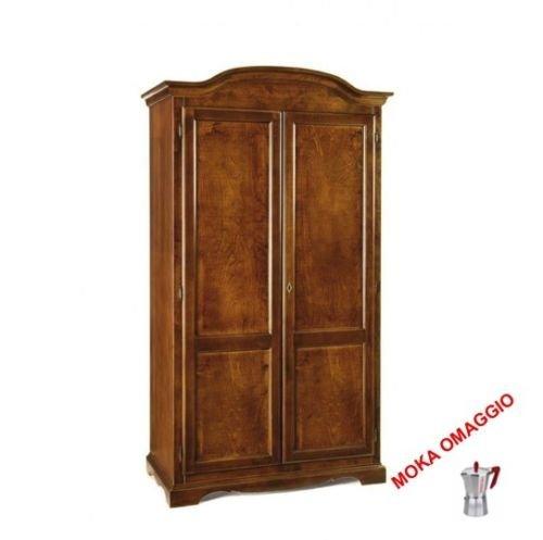 CLASSICO armadio legno mobile 2 ante legno per soggiorno