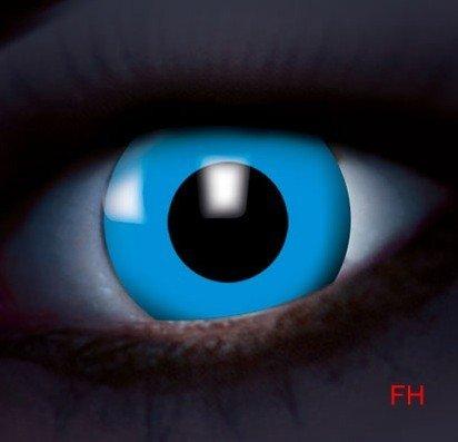 1 Paar farbige Kontaktlinsen Disco UV aktive Kontaktlinsen blau 12 monats Linse