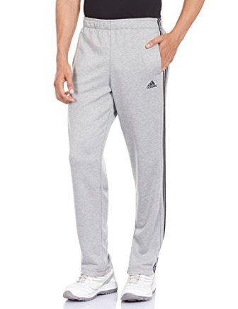 adidas Men's Polyester Track Pants (4056561512205_AP2862_S_Grey and Black)