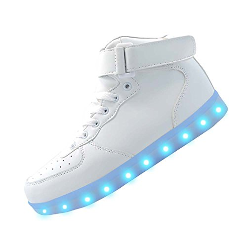 URUOI [New Logo] 11 Lighting Effects High-Top Light Up Shoes LED Sneakers for Women Men Girls Boys Christmas Halloween Birthday Party