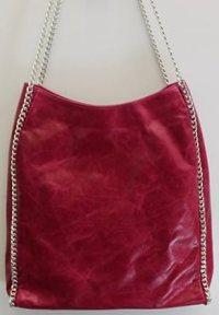 Chain Strap Bag Pink Leather Designer Handbag - Made in ...