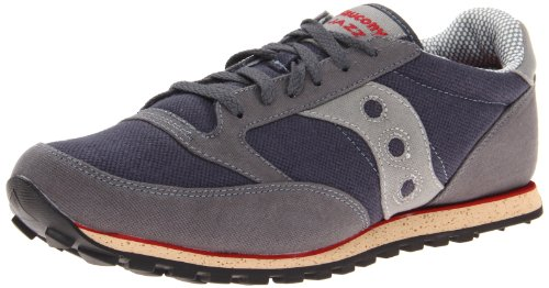 Saucony Originals Men's Jazz Low Pro Vegan Fashion Sneaker,Grey/Red,13 M US