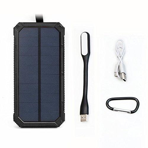 X-DRAGON ソーラーチャージャー 15000mAh モバイルバッテリー デュアルUSB出力 ポータブル ソーラーバッテリー充電器 iPhone 7 7s 6 Plus 5S 5C 5 4S , iPod,Samsung Galaxy S6 S6 Edge,Goproカメラ, GPS等対応