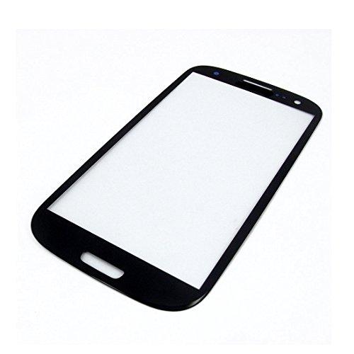 Galaxy S3 SIII i9300 フロントガラス 保護用ガラス 修理用部品 パーツ ブラック