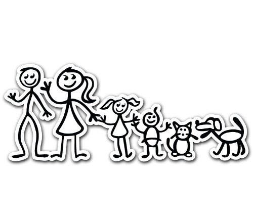 bumper stickers for cars: Family Mom Dad Son Daughter Cat