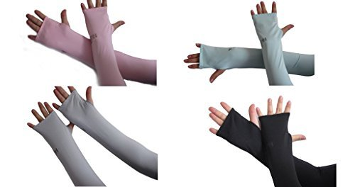 auch 4 pairs dul-purpose arm sleeves cover,4 assorted colors,video review,(VIDEO Review) AUCH 4 Pairs Dul-purpose Arm Sleeves Cover (4 Assorted Colors),