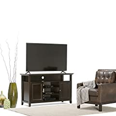 Simpli Home Amherst Tall TV Media Stand for TVs up to 60