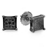 Black Diamond Ring: Black Diamonds Earings For Men