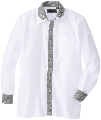 American-Exchange-Big-Boys-Mini-Gingham-Contrast-Shirt