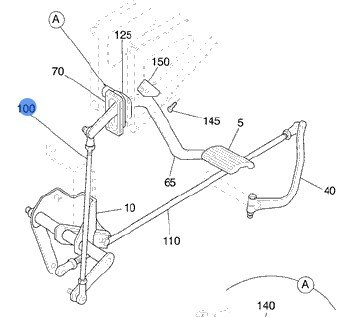 Volvo Truck 3937835 Clutch Linkage Rod : Clutch