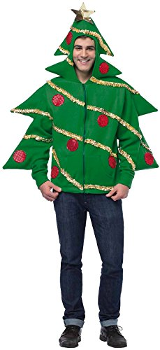 Men's Decorated Christmas Tree Hoodie (L/XL)