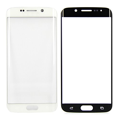 SKILIWAH® Samsung Galaxy S6 Edge G9250 G925専用 前ガラス 保護用ガラス 純正フロントガラス 修理交換用パーツ 工具付き ホワイト