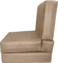 Epic Furnishings Nomad Adult Foam Sleeper Chair Bed, Suede ...