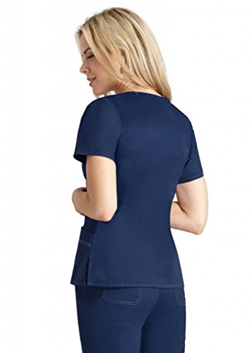 Pop-Stretch Junior Taskwear Tab-Waist Crossover; Nursing Scrubs