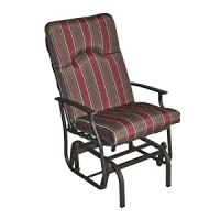 Amalfi Padded Single Glider Chair in Red and Brown - Patio ...