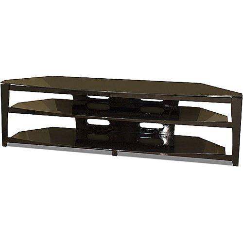buy low price techcraft bce72 72 inch wide sorrento flat panel tv stand black bce72. Black Bedroom Furniture Sets. Home Design Ideas