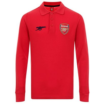 Arsenal-FC-Official-Soccer-Gift-Boys-Long-Sleeve-Polo-Shirt-Red-12-13-Years