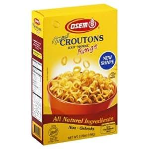 Amazoncom Osem Mini Croutons Soup Mandel 53 Ounce