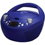 Coby CXCD251BLU Portable CD Player with AM/FM Radio, Blue for $21.38 + Shipping
