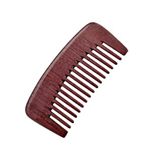 crystalmood purpleheart wood seamless wide tooth pocket hair b all natural