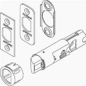Kwikset 19843-3 6-Way Adjustable Replacement Plain Latch