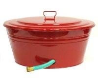 RED 3-Inch Steel Garden Hose Pot holder, organizer with ...