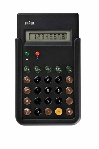 [ブラウン]BRAUN 電卓 復刻モデル BNE001BK  【正規輸入品】