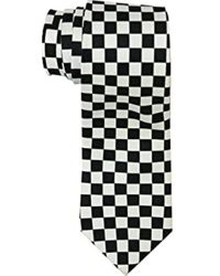 Amazon.com: Black and White Checkered Skinny Tie: Clothing