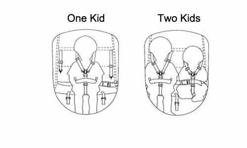 KMS Child 3 In 1 Folded Bike Trailer Stroller Jogger Seat