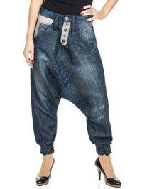 DESIGUAL Damen Designer Jeans Hose - TURCO MIX ...