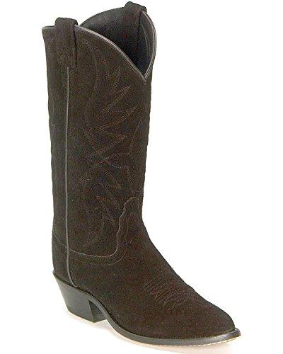Roughout Suede Cowboy Boot Black