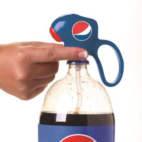 Jokari Pepsi Modern Logo Fizz Keeper Soda Dispenser Home