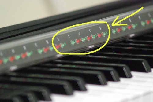 PianoMaestro learning system - fits Yamaha DGX-500 DGX-620 GDX-640