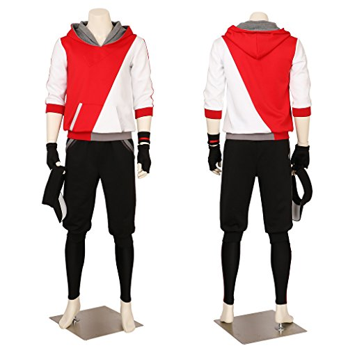 Men's Pokemon Go Trainer Team Valor Instinct Mystic Cosplay Costume Small