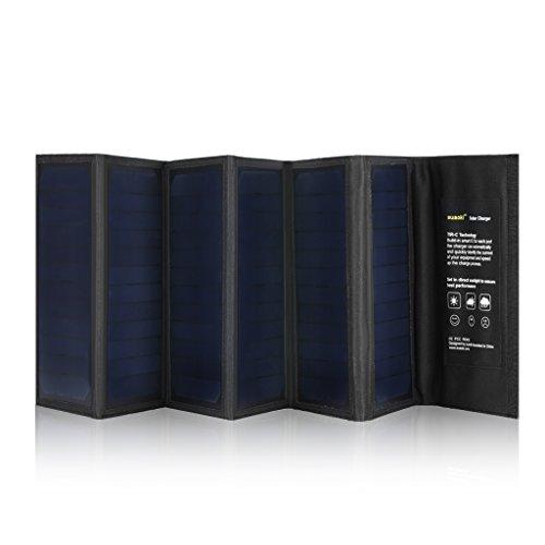 suaoki 40W折りたたみ式 ソーラーバッテリーチャージャーソーラーパネル 6枚搭載 高変換効率 スマホ ノートPC 車バッテリーも充電可能