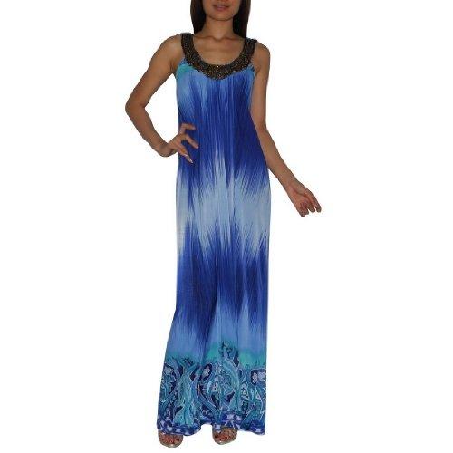 Frauen Thai Exotische Sexy Voll-Länge Elegant Wide Straps Langes Kleid / Partykleid - Größe: Medium