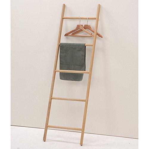 ラダーラック シンプルな梯子のラック。タオルやハンガーをかけてお部屋のアクセントに。