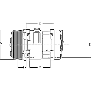 Volvo Truck AC Compressor Sanden Model 4716 : Clutches
