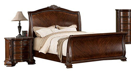 Daily Real Estate, Mortgage, Loans,(VIDEO Review) Kidd Brown Cherry Queen Sleigh Bed,
