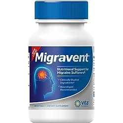Migraine Relief - Migravent-Supplement - Natural Migravent Proprietary Remedy Vita Sciences - 60 Caps